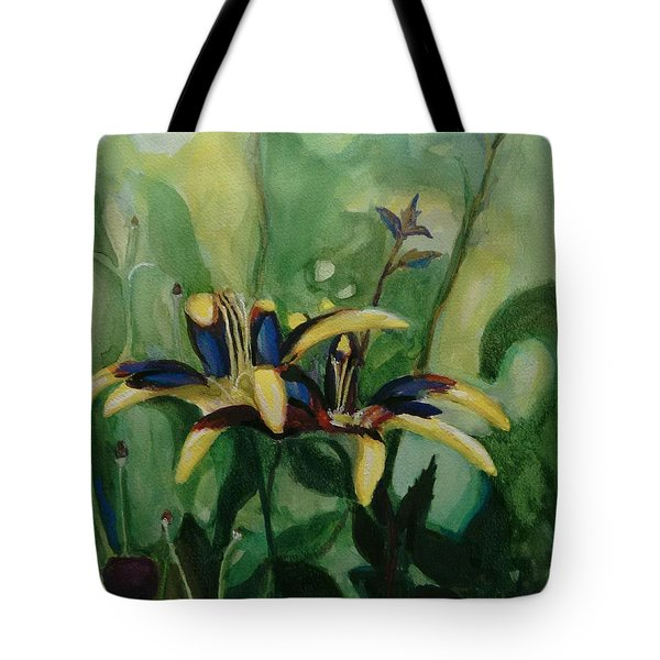Glowing Flora Tote Bag
