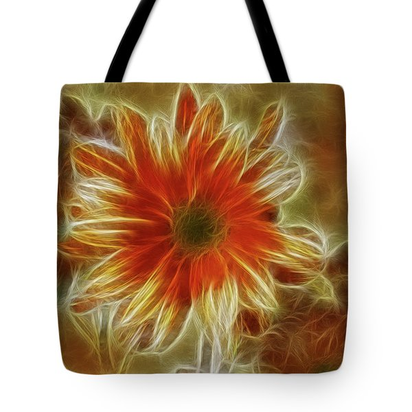 Glowing Flower Tote Bag