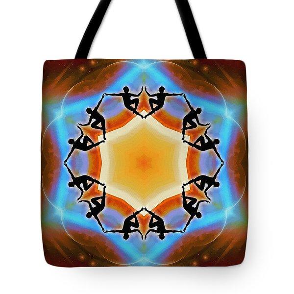 Tote Bag featuring the digital art Glowing Heartfire by Derek Gedney