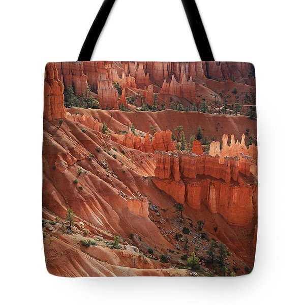 Tote Bag featuring the photograph Glowing Hoodoos by Donna Kennedy