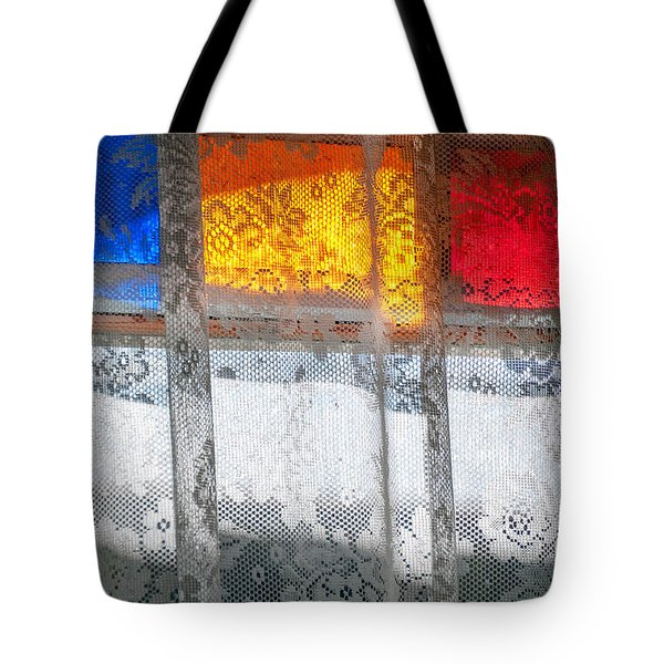 Glowing Lace Tote Bag by Christopher Holmes