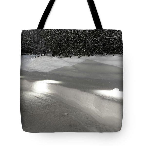 Glowing Landscape Lighting Tote Bag