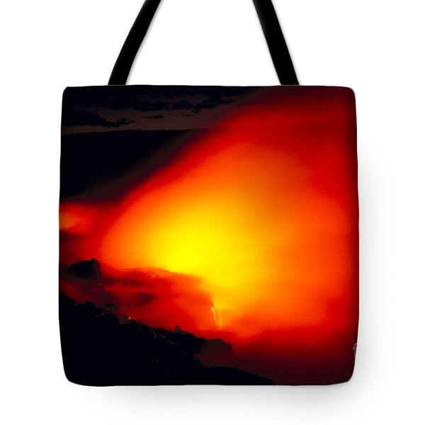 Glowing Lava Flow Tote Bag by William Waterfall - Printscapes