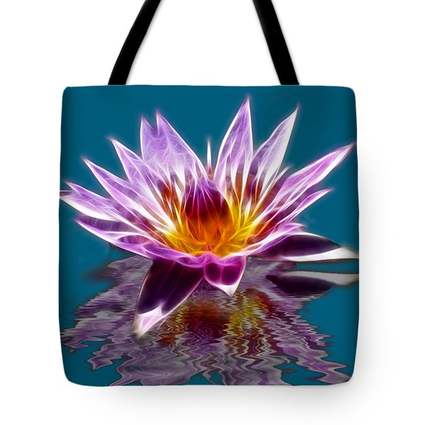 Glowing Lilly Flower Tote Bag