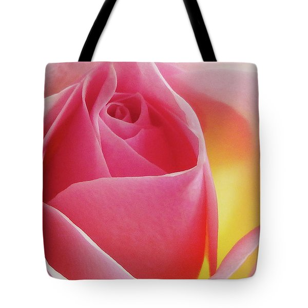 Glowing Pink Rose Tote Bag