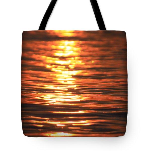 Glowing Ripples Tote Bag by Karol Livote