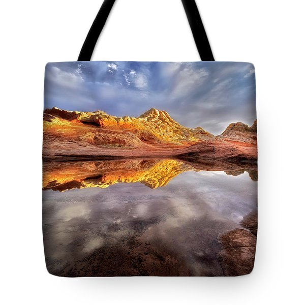 Glowing Rock Formations Tote Bag by Nicki Frates