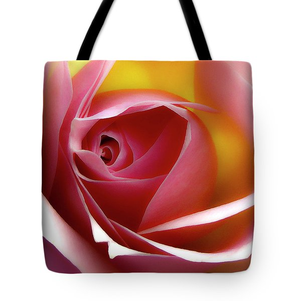 Glowing Rose Hdr Tote Bag