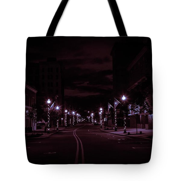 Glowing Streets Downtown Tote Bag