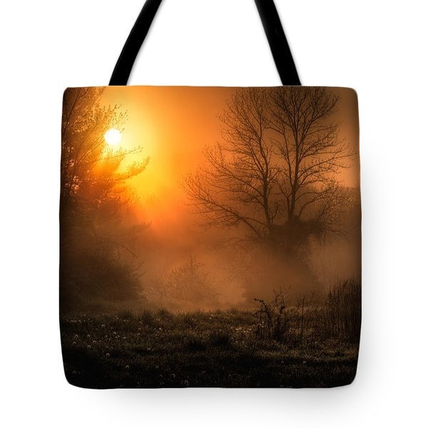 Glowing Sunrise Tote Bag by Everet Regal