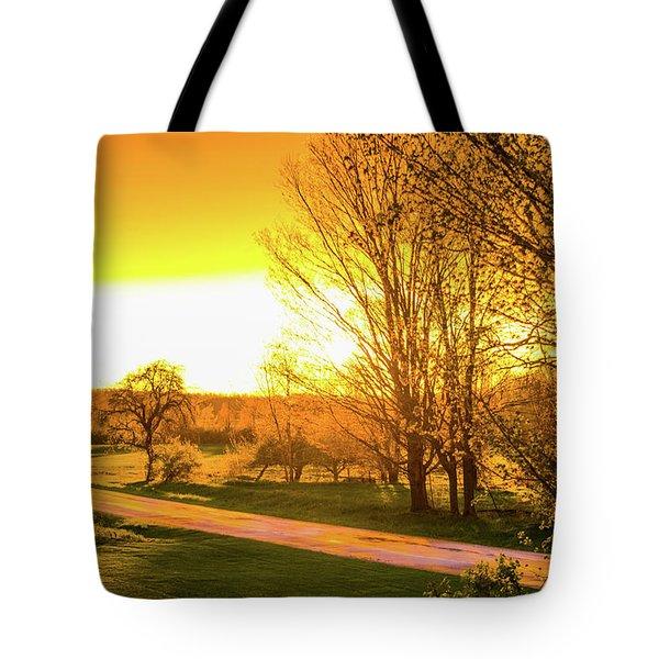 Glowing Sunset Tote Bag