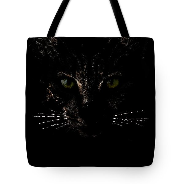Glowing Whiskers Tote Bag