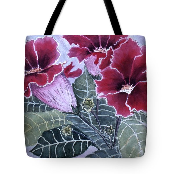 Gloxinias Tote Bag