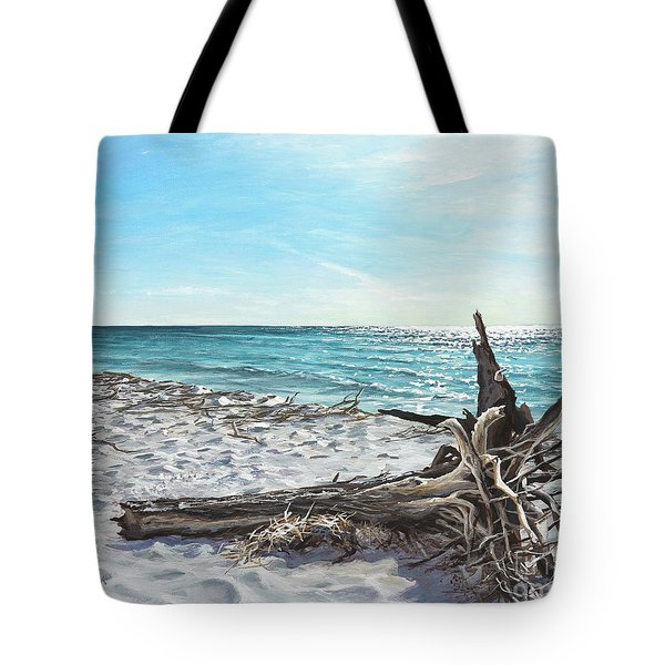Gnarled Drift Wood Tote Bag