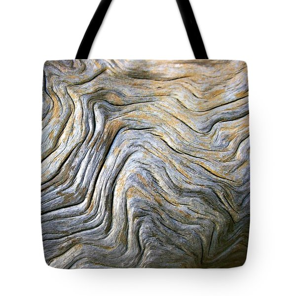 Tote Bag featuring the photograph Gnarled Driftwood by Polly Castor
