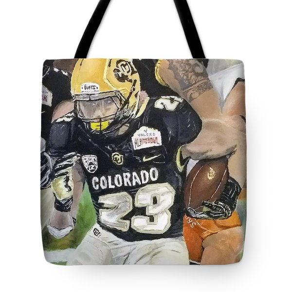 Tote Bag featuring the painting Go Buffs by Kevin Daly
