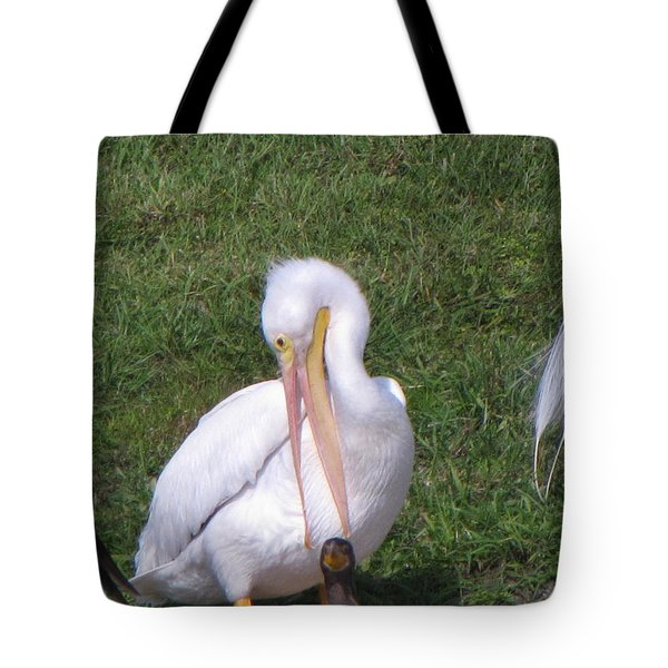 Go Fish Somewhere Else Tote Bag by Martha Ayotte