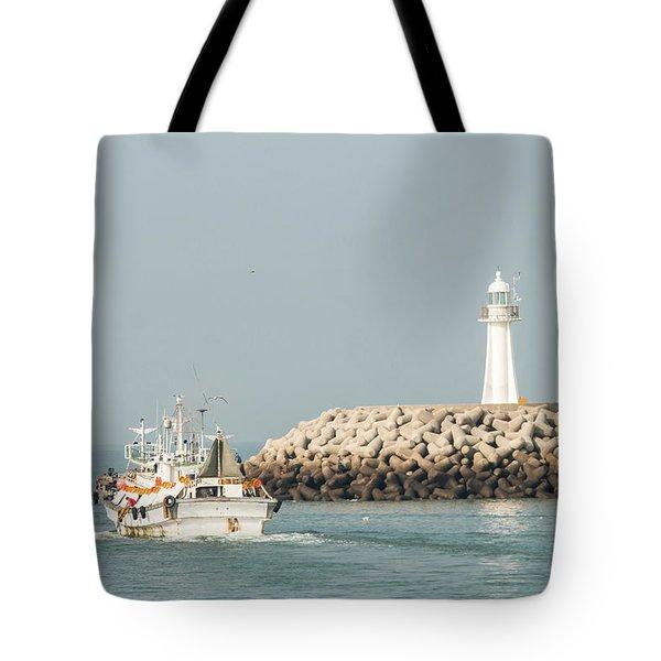 Go Fishing Tote Bag by Hyuntae Kim