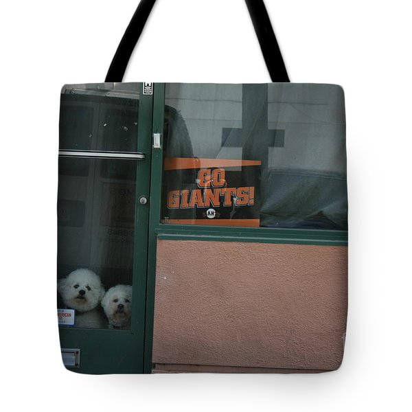 Tote Bag featuring the photograph Go Giants by Cynthia Marcopulos