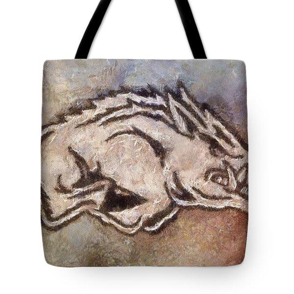 Go Hogs Go  Tote Bag by Dawn Bearden