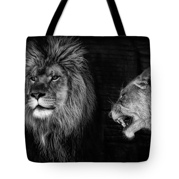 Tote Bag featuring the photograph Go Hunting - I'm Hungry by Ken Barrett
