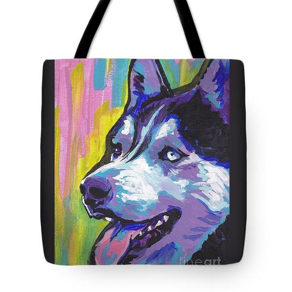 Go Husky Tote Bag by Lea S