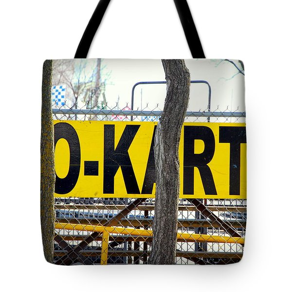 Tote Bag featuring the photograph Go Karts by Valentino Visentini