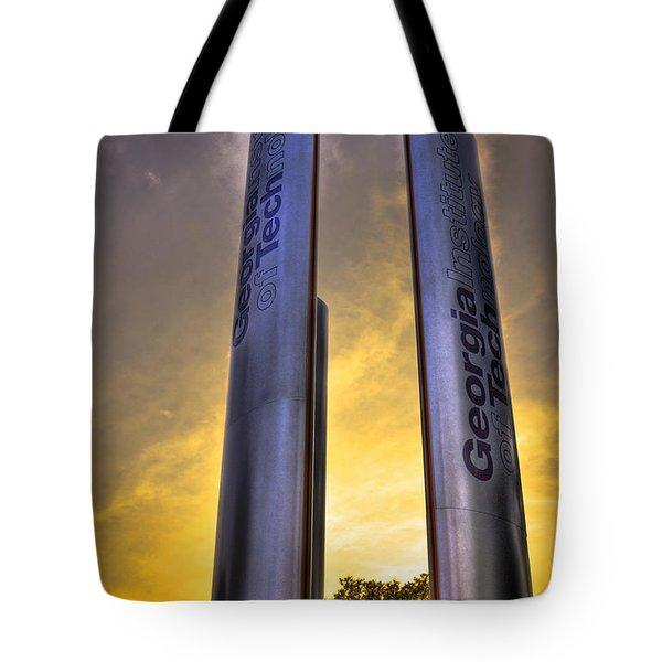 Go Tech Georgia Tech Sunset Art Tote Bag