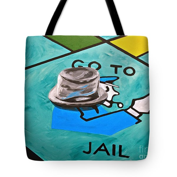 Go To Jail  Tote Bag by Herschel Fall