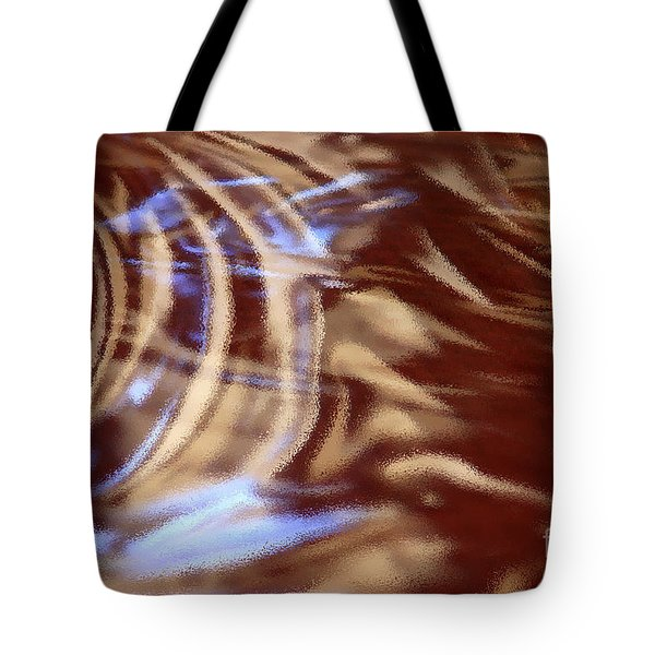 Go With The Flow - Abstract Art Tote Bag by Carol Groenen