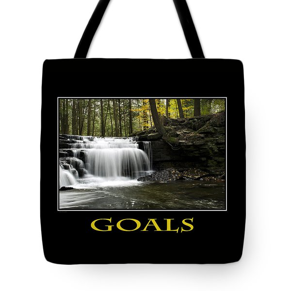 Goals Inspirational Motivational Poster Art Tote Bag by Christina Rollo