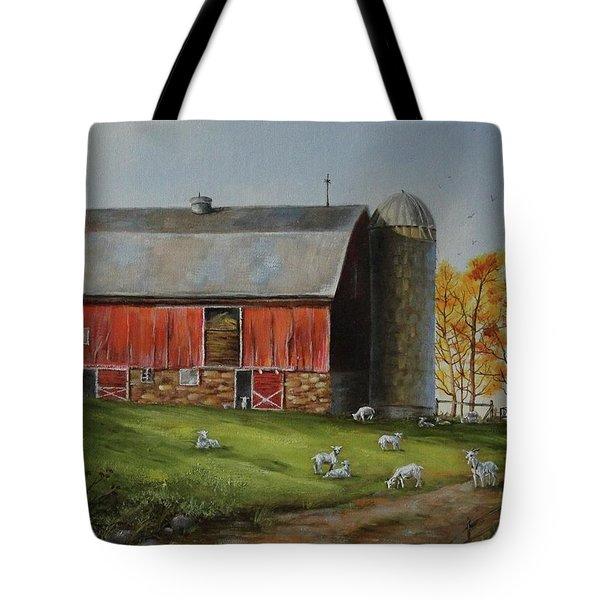 Goat Farm Tote Bag