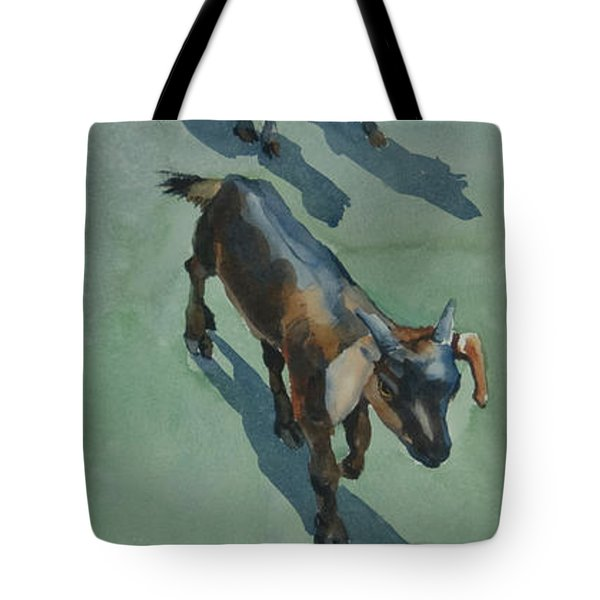 Goat Tote Bag by Helal Uddin