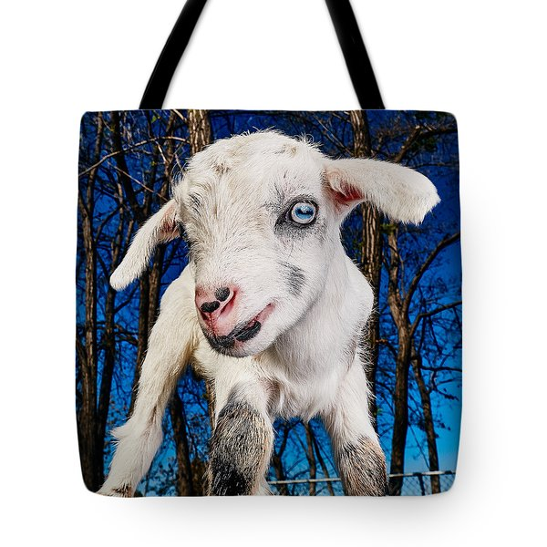 Goat High Fashion Runway Tote Bag