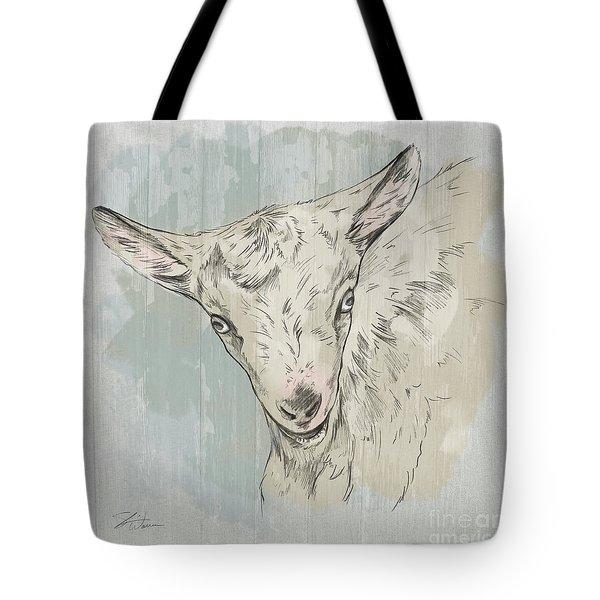 Goat Portrait-farm Animals Tote Bag
