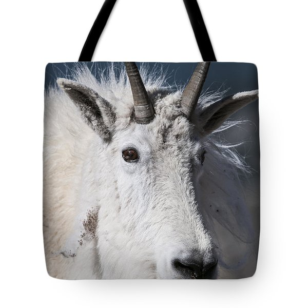 Goat Portrait Tote Bag by Gary Lengyel