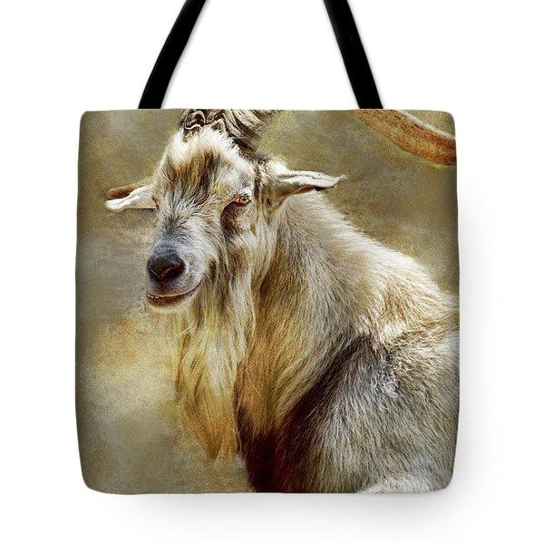 Goat Portrait Tote Bag