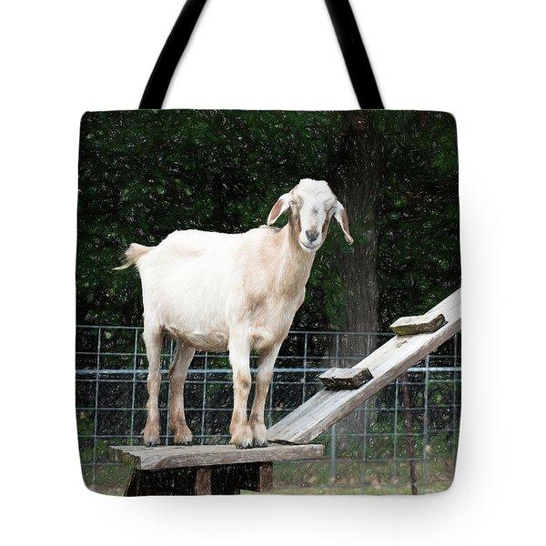 Goat Smile Tote Bag