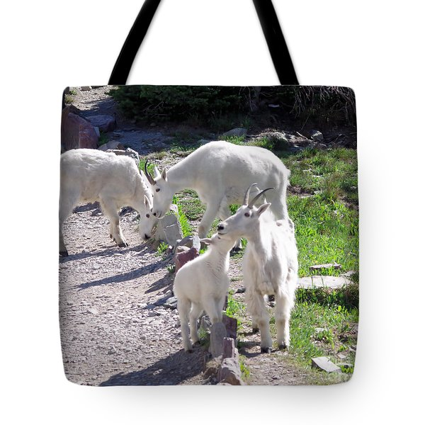 Goats Along The Path Tote Bag