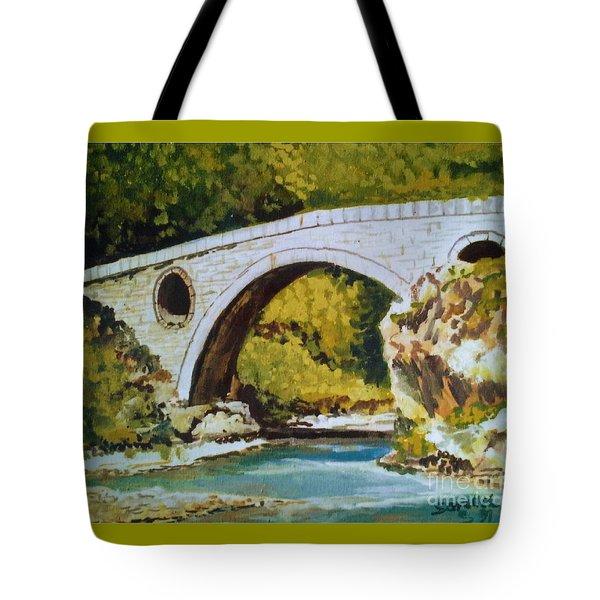 Goat's Bridge Tote Bag