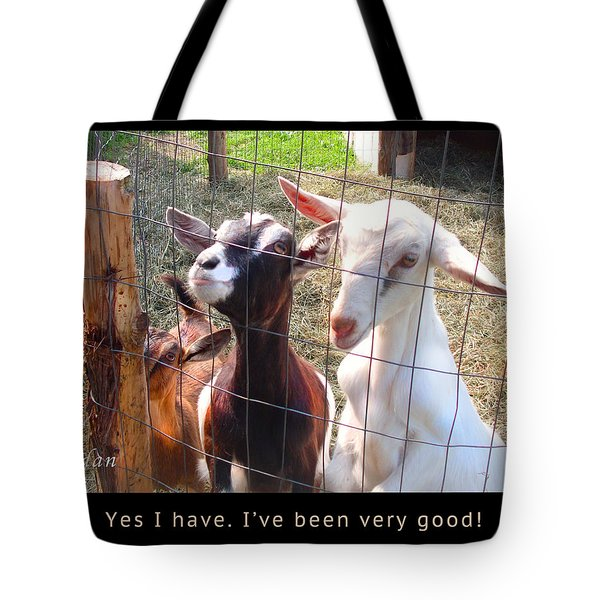 Tote Bag featuring the photograph Goats Poster by Felipe Adan Lerma
