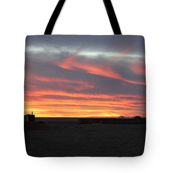 Gobi Sunset Tote Bag