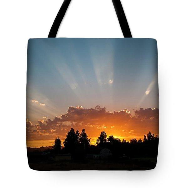 God Beams Tote Bag