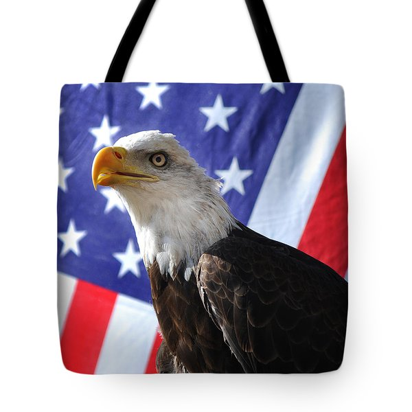 God Bless Our Heros Tote Bag by Adele Moscaritolo