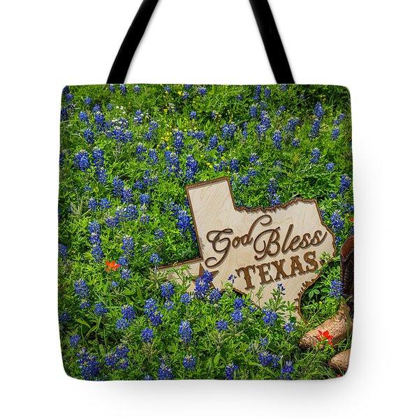 God Bless Texas II Tote Bag by John Roberts