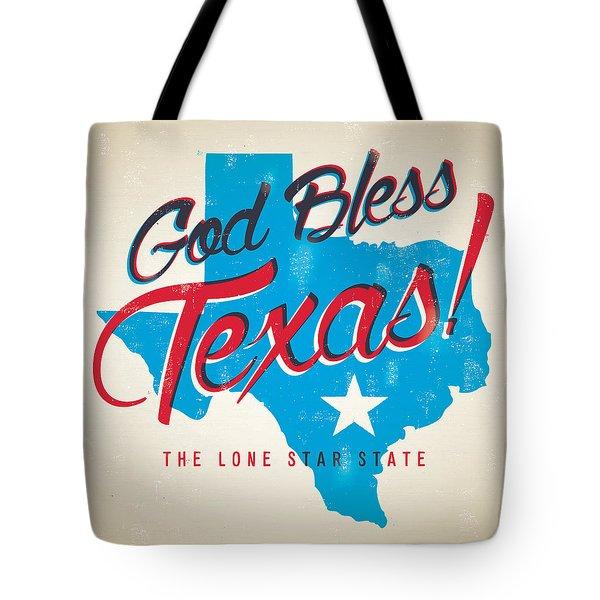 God Bless Texas Tote Bag