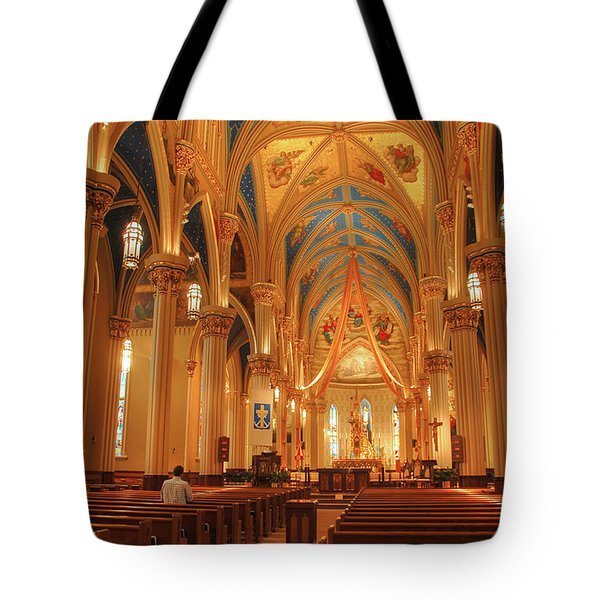 God Do You Hear Me Tote Bag by Ken Smith