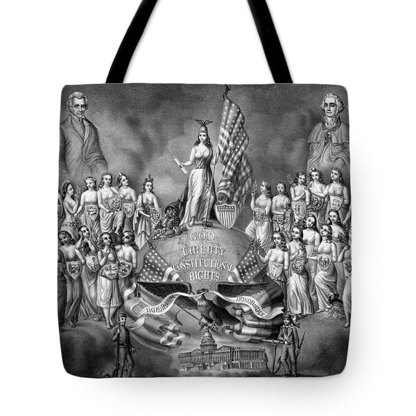 God Liberty And Constitutional Rights Tote Bag