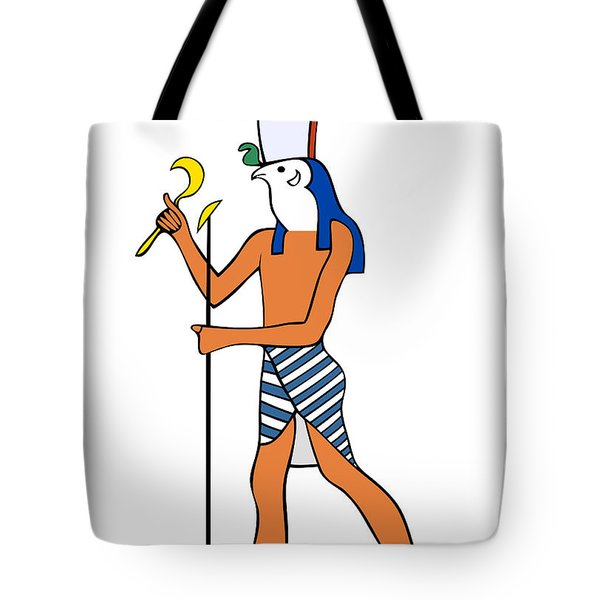 God Of Ancient Egypt - Horus Tote Bag by Michal Boubin