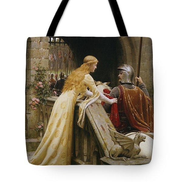 God Speed Tote Bag by Edmund Blair Leighton